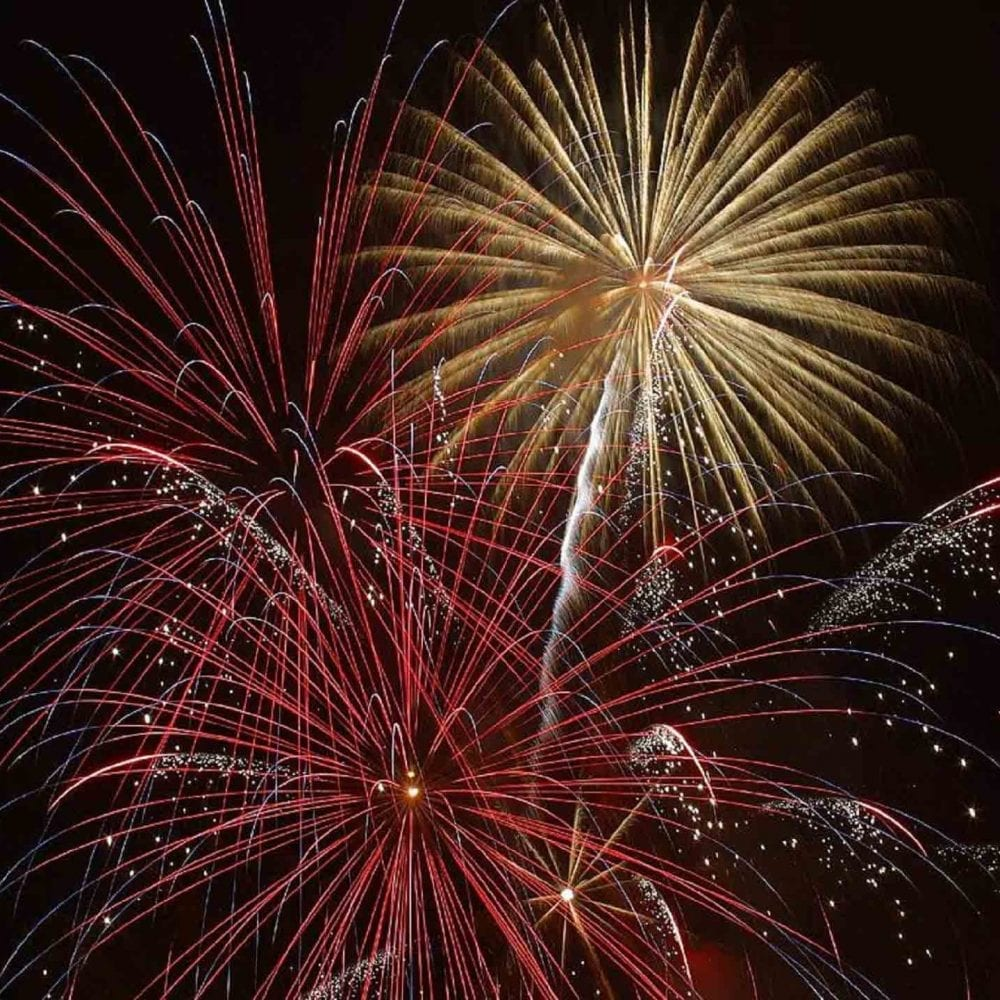 Image of new year's eve fireworks for health, skincare routine and skin resolutions post