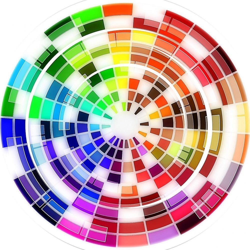 Image of colour wheel for concealing and colour correction blog post