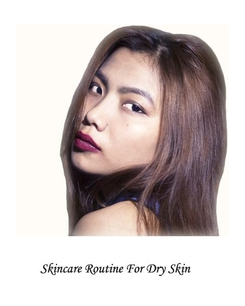 Image of beauty model for skincare routine for dry skin post