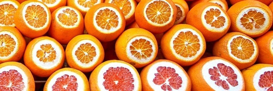 Image of oranges for spotlight on vitamin c for skincare post