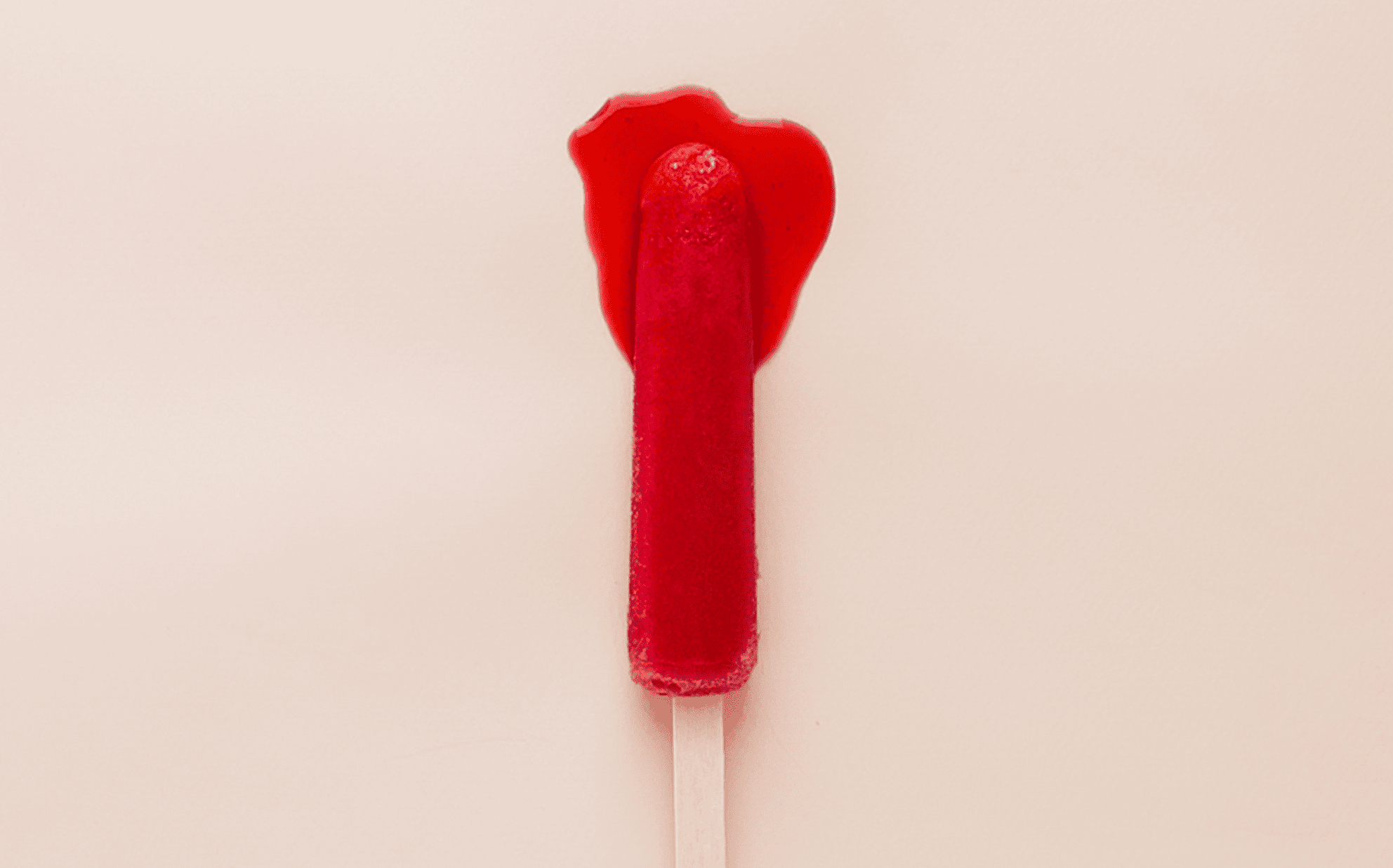 Image of red period lolly for Freda blog post