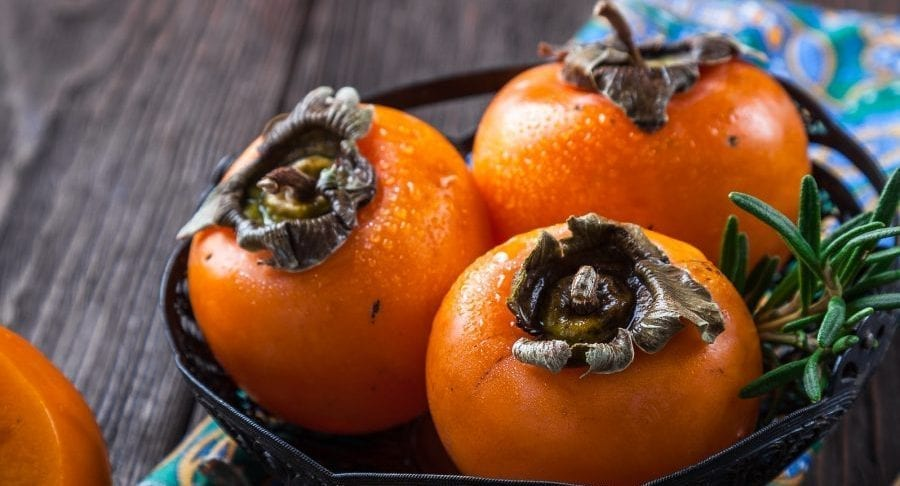Image of persimmons for post on Sunday Vibes, Lisa Eldridge, Persimmons & More...